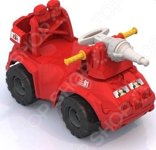 Машина-каталка Нордпласт «Пожарная машина»