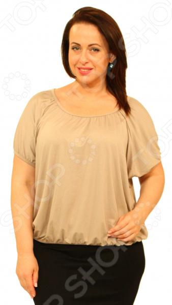Блуза Матекс «Ягодка». Цвет: бежевыйБлузы. Рубашки<br>Блуза Ягодка это легкая и нежная блуза, которая поможет вам создавать невероятные образы, всегда оставаясь женственной и утонченной. Благодаря отличному дизайну она скроет недостатки фигуры и подчеркнет достоинства. Блуза прекрасно смотрится с брюками и юбками, а насыщенный цвет привлекает взгляд. В этой блузке вы будете чувствовать себя блистательно как на работе, так и на вечерней прогулке по городу. Можно отметить следующие характеристики блузы:  Круглый вырез горловины подчеркивает область декольте и шею;  Рукава-фонарики скрывают недостатки плеч;  Блуза свободного силуэта;  Оригинальная цветовая гамма позволяет создать изысканный образ и отвлечь внимание от недостатков фигуры. Блуза изготовлена из легкого материала 95 вискоза, 5 полиэстер , благодаря чему материал не скатывается и не линяет после стирки. Вискоза очень быстро высыхает после стирки и не мнется. Даже после длительных стирок и использования эта блуза будет выглядеть идеально. Материал является антистатическим и обладает хорошей воздухопроницаемостью.<br>