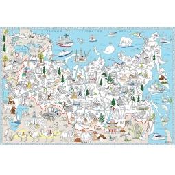 фото Раскраска-карта Геодом «Наша Родина-Россия»