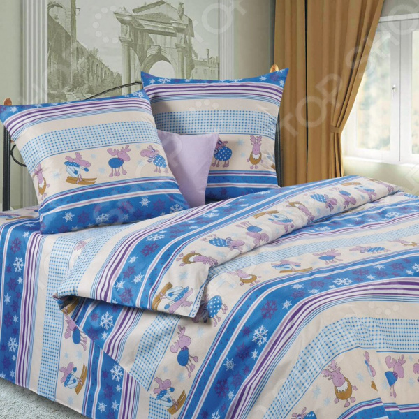 Комплект постельного белья DIANA P&amp;amp;W «Зимние забавы». 2-спальный2-спальные<br>Спокойный и здоровый сон для человека также жизненно необходим, как и свежий воздух, ведь именно выспавшись, вы полны новых идей и сил для их реализации. Но возможен ли приятный сон на твердой кровати или некачественном постельном белье Конечно же, нет. Именно поэтому мы с гордостью представляем загадочный, фантастически красивый и роскошный комплект постельного белья от производителя DIANA P W. Роскошное белье для сладкого сна DIANA P W Зимние забавы это постельное белье нового поколения , предназначенное для молодых и современных людей, желающих создать модный интерьер спальни и сделать быт более комфортным. Комплект изготовлен из микрофибры. Каждая нить ткани состоит из переплетенных между собой от 50 до 150 микроволокон плотностью менее 1 грамма на 9 километров длины. Также стоит отметить, что материал на 100 состоит из полиэстера, а при изготовлении белья используются исключительно устойчивые гипоаллергенные красители. Микрофибра моментально поглощает и испаряет влагу, поэтому белье можно использовать в любое время года. Также данный материал обладает хорошим охлаждающим эффектом и отличной воздухопроницаемостью. Белье не теряет цвет и не садится во время стирки, а на ткани не образуются катышки . Насыщенный цвет и высокое качество продукции гарантируют, что атмосфера вашей спальни наполнится теплотой и уютом, а вы испытаете множество сладких мгновений спокойного сна.  Почему стоит выбрать постельное белье от бренда DIANA P W  Изготовлено из мягкого и приятного на ощупь гипоаллергененного материала.  Отличается высокой гигроскопичностью, хорошо пропускает воздух и обладает охлаждающим эффектом.  Ворсинки микрофибры равномерно распределяют статическое электричество.  Легко отстирывается даже от жировых пятен без применения химических веществ.  Не теряет насыщенных цветов даже после множества стирок.  Устойчиво к воздействию лучей ультрафиолета.  Изделия из полиэстера практическ