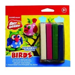 Купить Набор пластилина мягкого Erich Krause Birds Step-by-step Creation
