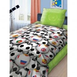 Купить Комплект постельного белья 4You «Футбольные мячи». Детский. В ассортименте
