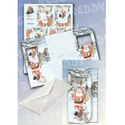 Купить Набор для создания открытки Reddy Creative Cards «Снеговик и собака»