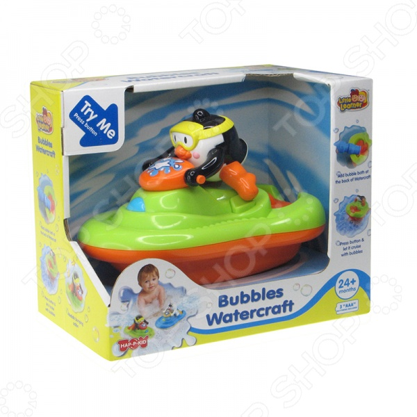 Игрушка для ванны HAP-P-KID «Пингвиненок на катере» игровые фигурки hap p kid игрушка робот polar captain 17 5 см 4075t