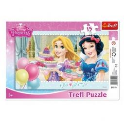 Купить Пазл 15 элементов Trefl «Принцессы Disney. Чайная вечеринка» 31210