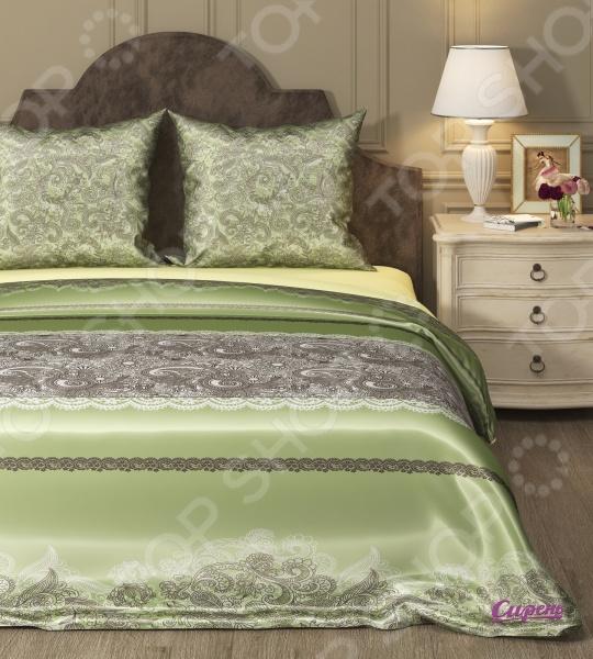 Комплект постельного белья Сирень «Арабеска 2». 1,5-спальный1,5-спальные<br>Комплект постельного белья Сирень Арабеска 2 это незаменимый элемент вашей спальни. Человек треть своей жизни проводит в постели, и от ощущений, которые вы испытываете при прикосновении к простыням или наволочкам, многое зависит. Чтобы сон всегда был комфортным, а пробуждение приятным, мы предлагаем вам этот комплект постельного белья. Красивое оформление и высокое качество комплекта гарантируют, что атмосфера вашей спальни наполнится теплотой и уютом, а вы испытаете множество сладких мгновений спокойного сна. Комплект выполнен из комбинированной ткани микрофибра с поверхностью из искусственного шелка. Материал практически не мнется, не требует особого ухода, не линяет и не выцветает. Поверхность ткани гладкая и приятная на ощупь, отличается красивым блеском. Производитель рекомендует ручную стирку, либо в стиральной машине в деликатном режиме при температуре 30 C .<br>