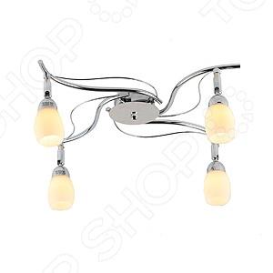 Люстра потолочная Rivoli Capri-C-4Люстры потолочные<br>Люстра потолочная Rivoli Capri-C-4 это красивый и мощный светильник, который способен ярко освещать целую комнату. Встраиваемый светильник может служить единственным источником света или дополняться декоративными светильниками. Светильник подходит для низких потолков, поскольку занимает достаточно мало места. Классический светильник, который позволит вам подсветить комнату, или напротив создать рассеянное освещение. Потолочный светильник может выступать как локальным источником света, так и основным, можно осветить рабочую зону или подчеркнуть интерьер. Если вы хотите создать в квартире определенный интерьер, то, в большинстве случаев, без потолочных светильников вам не обойтись. Следует заметить, что потолочные светильники прекрасно подходят для рабочих помещений, кабинетов и офисов. Можно использовать как замену люстр в маленьких помещениях, например, в помещениях где низкие потолки и вешать люстру просто невозможно. Кроме того, потолочные светильники помогут создать неповторимую атмосферу в коридорах. Свет, который излучается очень мягкий, при этом достаточно хорошо освещает помещение.<br>