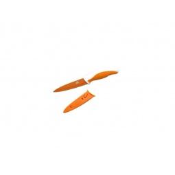 фото Нож Gipfel в пластиковом чехле. Цвет рукояти: оранжевый