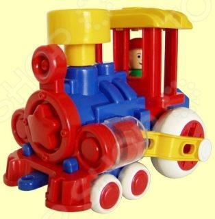 Паровозик игрушечный для малыша Форма «Ромашка ДС» паровозик дс
