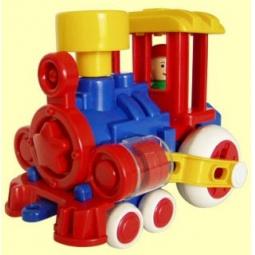 фото Паровозик игрушечный для малыша Форма «Ромашка ДС»