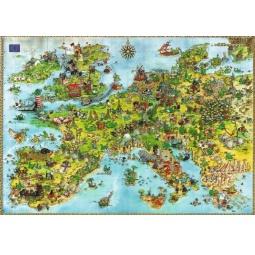 Купить Пазл 4000 элементов Heye «Драконы в Европе» Marino Degano