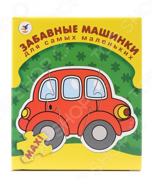 Пазл для малышей Дрофа «Забавные машинки»