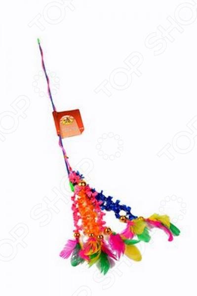 Игрушка для кошек Beeztees «Удочка с перьями на хвостиках» игрушка для животных каскад удочка с пауком и перьями длина 58 5 см