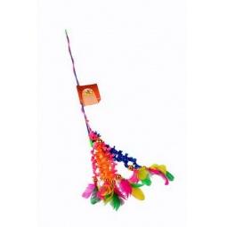 фото Игрушка для кошек Beeztees «Удочка с перьями на хвостиках»