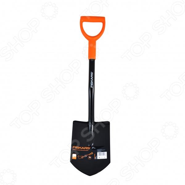 Лопата штыковая укороченная Fiskars Solid лопата штыковая fiskars solid 131413