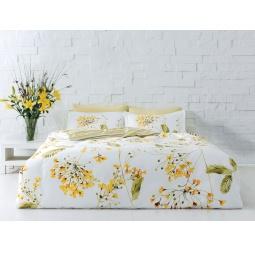 фото Комплект постельного белья TAC Blossom. Евро. Цвет: желтый