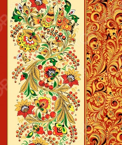 Полотенце вафельное ТексДизайн «Хохломские узоры» россия ёлочная игрушка шар аленький цветочек коллекция хохломские узоры white