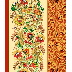 фото Полотенце вафельное ТексДизайн «Хохломские узоры»