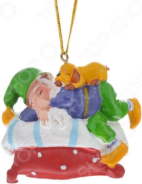 Игрушка ёлочная Игрушка елочная Феникс-Презент 38978 «Сонный Гном»