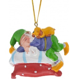 Купить Игрушка елочная Феникс-Презент 38978 «Сонный Гном»