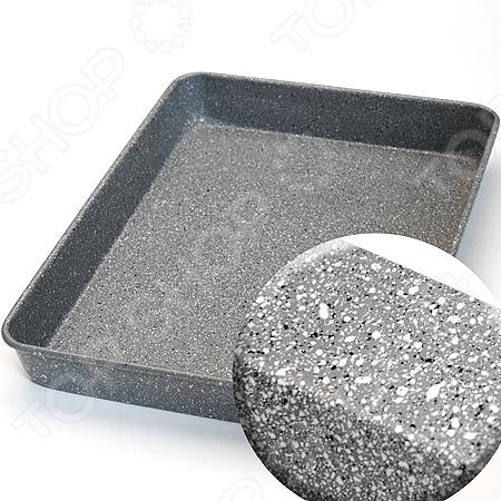 Противень металлический Mayer&amp;amp;Boch MB-24956Металлические формы для выпечки и запекания<br>Противень металлический Mayer Boch MB-24956 атрибут для приготовления запеканок, всевозможных блюд из мяса и овощей, а также выпечки из теста и изысканных кондитерских блюд. Выполнен из углеродистой стали и имеет антипригарное покрытие из мрамора. Такой противень хорошее решение для каждой кухни. Легко очищается под проточной водой и выдерживает большие температуры. Форма подходит для использования в духовке с максимальной температурой 250 С. Покрытие не оставляет послевкусия, делает возможным приготовление блюд без масла, сохраняет витамины и питательные вещества.. Чтобы избежать повреждений антипригарного покрытия, не используйте металлические или острые кухонные принадлежности.<br>
