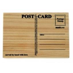 Купить Открытка деревянная Suck UK Carve your own