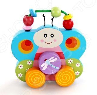 Каталка для малыша Mapacha Бабочка 76428 прекрасная развивающая игрушка, которая станет отличным подарком для вашего малыша. Каталка выполнена в виде бабочки, к которой приделана ручка для того, чтобы ребенку было удобно везти игрушку за собой или перед собой. Разноцветные бусинки на ручке можно перебирать пальчиками, тренируя моторику рук. Такая игрушка помогает сделать первые шаги и освоить навыки ходьбы. Развивает координацию движений и способность ориентироваться в пространстве. Размер 16х15 см.