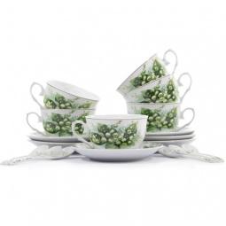 Купить Чайный набор с ложками Elan Gallery «Ландыши»