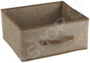 Короб без крышки White Fox WHHH10-377 LinenКоробки. Ящики. Подставки<br>Короб без крышки White Fox WHHH10-377 Linen предназначен для хранения текстиля, белья, одежды, различных аксессуаров или документов. Короб легко можно поместить в шкаф. С помощью сочетания нескольких коробов вы сможете оптимально организовать пространство в квартире, независимо от ее размеров. Короб можно легко перемещать с места на место, благодаря боковым ручкам.<br>