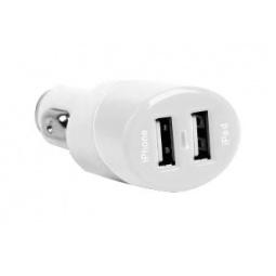 фото Зарядка USB автомобильная для iPad/ iPhone Loctek. Цвет: белый
