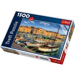 Купить Пазл 1500 элементов Trefl «Старый порт Сен-Тропе»