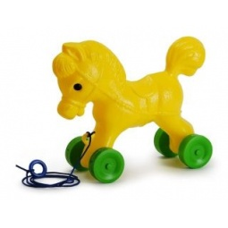 Купить Каталка для малыша Росигрушка «Лошадка» 40734. В ассортименте