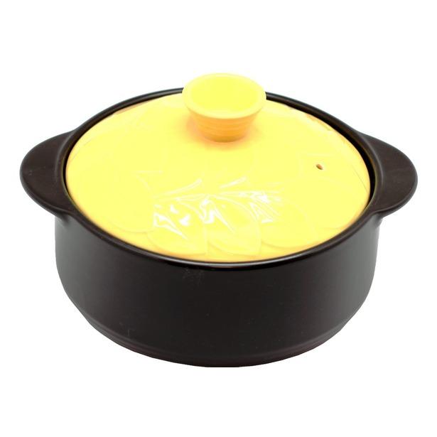 фото Кастрюля керамическая Hans&Gretchen Baum. Цвет: желтый. Объем: 2,1 л. Диаметр: 22 см