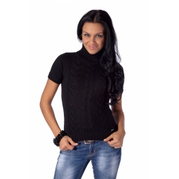 фото Свитер вязаный Mondigo 9004. Цвет: черный. Размер одежды: 42