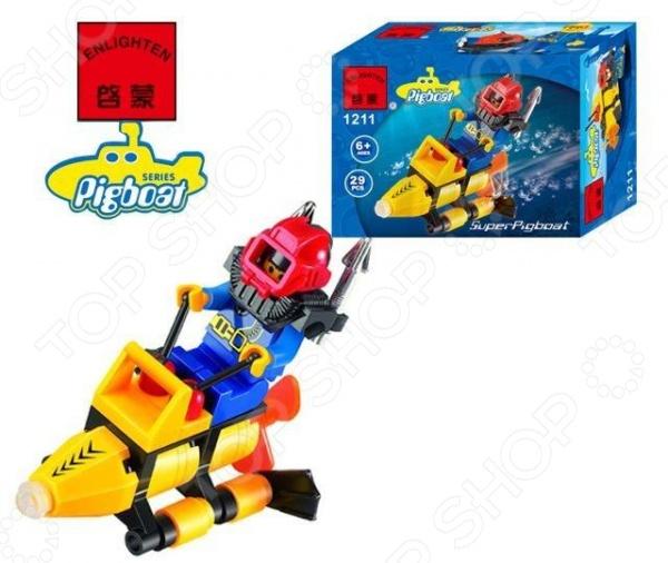 Конструктор игровой Brick «Подводный скутер» 1717079 конструктор lego 60090 глубоков��дный скутер