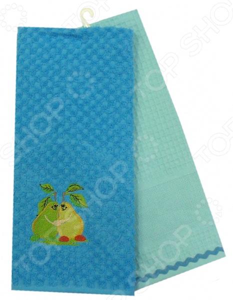 Комплект из 2-х махровых вафельных полотенец BONITA «Груша» комплект из 2 х махровых вафельных полотенец bonita конфетти