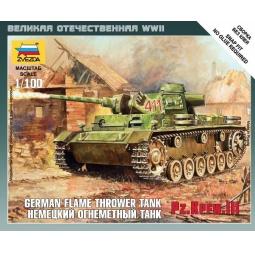 фото Сборная модель Звезда немецкий огнеметный танк Pz.Kfw III