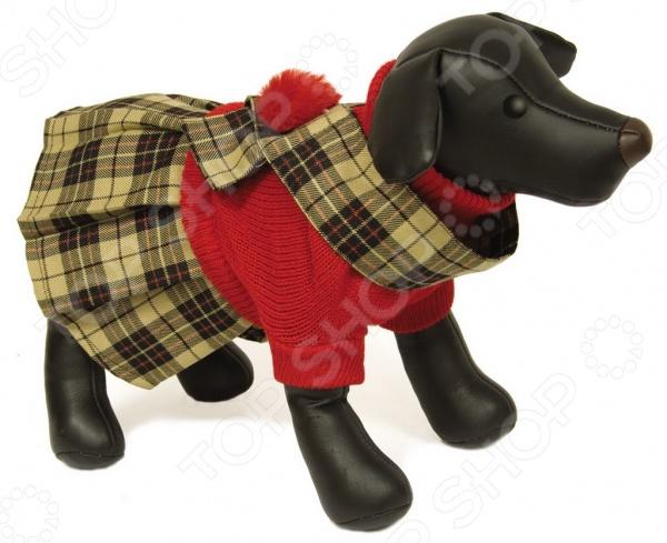Свитер-платье для собак DEZZIE «Шотландка» платье для собак dezzie рейси