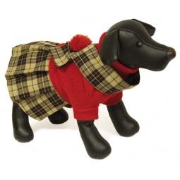 фото Свитер-платье для собак DEZZIE «Шотландка». Размер: 25 см