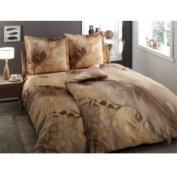 фото Комплект постельного белья TAC Punto. Семейный. Цвет: коричневый