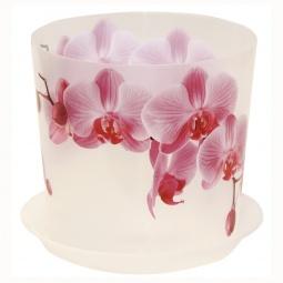 фото Кашпо с поддоном IDEA «Деко. Орхидея». Диаметр: 16 см. Объем: 2,4 л