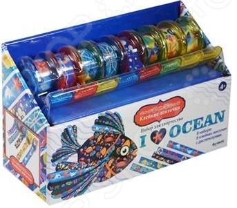 Набор для детского творчества Оригами с клейкими ленточками «Я люблю океан»Другие наборы для детского творчества<br>Набор для детского творчества Оригами с клейкими ленточками Я люблю океан комплект из 8-ми клейких лент, на которых изображены морские обитатели. Каждая лента закреплена в отдельном диспенсере, что обеспечивает удобное ее использование. Красочный и яркий рисунок этого клейкого материала сможет украсить подарочную упаковку, обложку тетради или блокнота, ручку или карандаш словом, все, что захочет ребенок. Ленты, выполненные в морской тематике, обязательно поднимут настроение и помогут сделать окружающий мир ярче и веселее.<br>