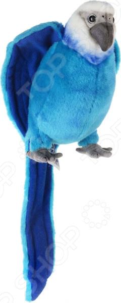 Мягкая игрушка Hansa «Голубой Ара»Мягкие игрушки<br>Игрушки от Hansa погрузитесь в мир животных! Мягкая игрушка Hansa Голубой Ара красивейшее создание, которое практически невозможно отличить от настоящего попугая. Столь впечатляющая реалистичность достигается за счет использования высококачественного меха и эластичного полиэфирного наполнителя. Изделие создано умелыми руками мастера, который предварительно изучает все особенности животного и воссоздает их в игрушке:  Окрас и текстуру оперения;  Размеры;  Форму головы и клюва;  Характерные позы;  Форму и цвет глаз.  Гибкий проволочный каркас даст возможность менять положение хвоста и крыльев попугая. Внутренняя их часть, а также лапки выполнены из текстиля, глазки из цветного пластика. Игрушечный ара изготовлен вручную из натуральных безвредных материалов. Каждая его деталь создана с большой любовью, вниманием и тщательностью!  Замечательный пернатый друг Общение с чудесным ара величественным обитателем тропиков имеет множество плюсов, ведь ребенок:  Научится быть внимательным к окружающей природе и всем ее обитателям;  Узнает интересные факты о самом животном;  Разовьет в себе полезные качества: доброту, внимательность, аккуратность и отзывчивость;  Станет ближе к неизведанной фауне далеких стран;  Сможет организовывать интересные игры с участием птицы.  Теперь вашему чаду предоставляется возможность любоваться экзотическими созданиями не только в книгах или по телевизору, но и в реальной жизни. Важность сосуществования с живой природой стоит прививать с малых лет. И игрушки Hansa станут замечательными помощниками в этом деле!<br>