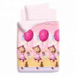 фото Детский комплект постельного белья Непоседа «Маша и Медведь. День рождения»