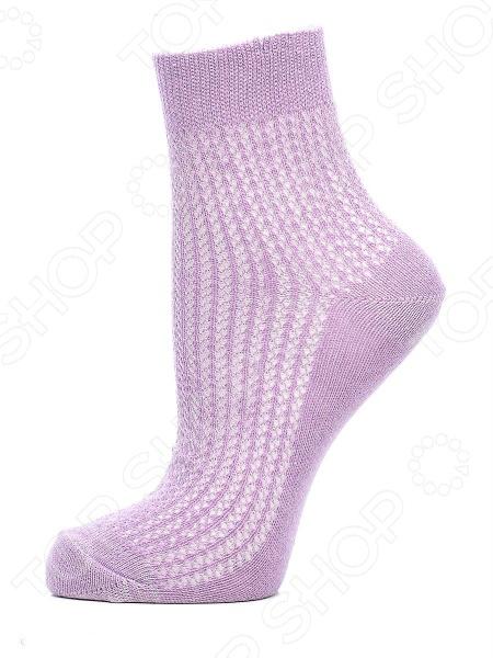 Носки женские ажурные Burlesco C693Ю. Цвет: сиреневый