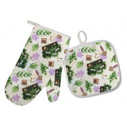 фото Комплект кухонный BONITA «Травы цветущие»