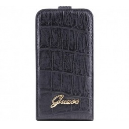 фото Чехол Guess Flip Case Croco для iPhone 5. Цвет: черный