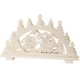 фото Декорация с подсветкой Star Trading «Санта в санях». Цвет: белый