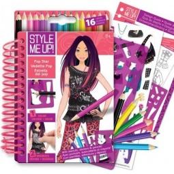Купить Блокнот с карандашами Style Me Up! «Супер Звезда»