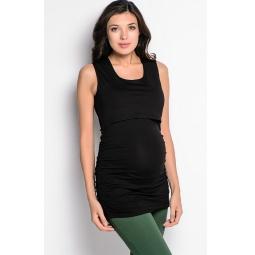 Купить Майка для беременных Nuova Vita 1115.1. Цвет: черный